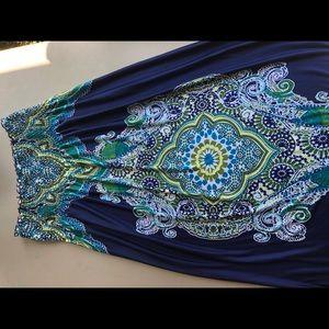 Bongo strapless maxi dress